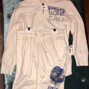NWT Aeropostale skull matching jacket&shorts